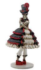 Steam Punk Skeleton Girl in Dress Day of the Dead Dia de Los Muertos Figurine