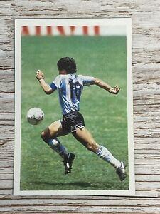 1987 Diego Maradona Question Of Sport Card Vibrant Colours