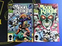 LOT 2x FIST OF KHONSHU MOONKNIGHT 1986 MARVEL COMICS -issues 3,4 ~ VF/NM cond