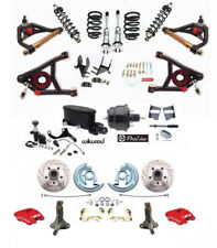 Custom Listing Disc Brake Kit RED Wilwood Caliper A Arms Adjustable FR Coilovers
