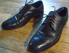Banana Republic Wing Tip Black Leather Shoes Size 8.5 D Italian leather.