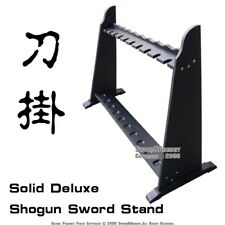 Vertical Shogun Style Upright Stand Samurai Sword Display Stand Hold 10 katana