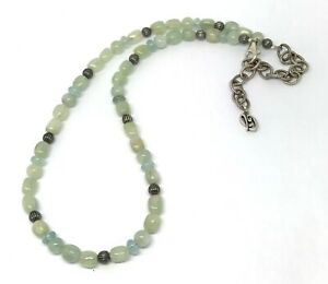 """Carolyn Pollack Sterling Silver Aventurine Bead Necklace 16.5"""" - 19.5"""""""