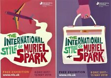The International Style of Muriel Spark - 2 Exhibition Postcards