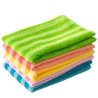 5PCS Microfiber Dishcloth Square Kitchen Washing Cleaning Cloth Towel Dish A6V2
