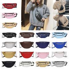 Fashion Women Fanny Pack Chain Leather Pouch Belt Waist Bum Bag Pocket Purse