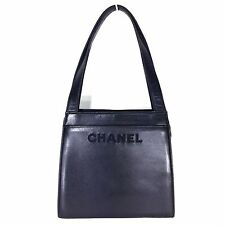 CHANEL black leather hand/shoulder bag small size.