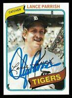 1980 Topps Lance Parrish Autographed Card - Detroit Tigers TTM - #196