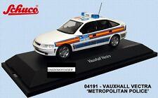 Vauxhall Vectra POLICE Back Metropolitan (WSL) SCHUCO - 1/43 - NEUF !!!!