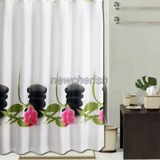 Abstract Beautiful Stone, Flower Pattern Bathroom Fabric Shower Curtain ns856