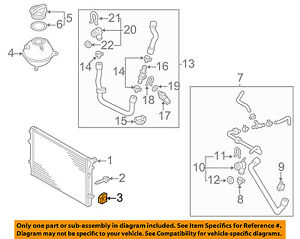 AUDI OEM 06-13 A3 2.0L-L4-Radiator Assembly Upper Insulator 1K0121367P