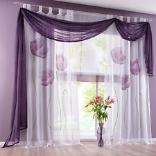 GS: 1 Stores Schlaufenschal Vorhang Gardine Dekoschal Blumen 150x145/175/225cm