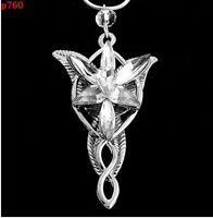 WHITE vintage ARWEN'S EVENSTAR NECKLACE LORD OF THE RINGS SILVER pendant one HS1