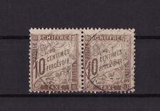 timbre France TAXE    10c  brun    num: 29   oblitéré en paire