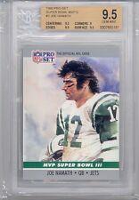 1990 Pro Set Super Bowl MVP'S Joe Namath (HOF) (#03) BGS9.5 BGS