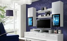 """TV STAND/LIVING ROOM FURNITURE /TV WALL UNIT   """"MM""""  WHITE"""