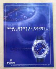 A911-Advertising Pubblicità-1999 - TUDOR CRONOGRAFO AUTOMATICO