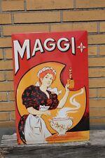 3D XXL Blechschild Maggi 60x40 cm Maggi Kaltmamsell mit Terrine
