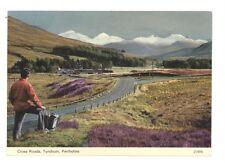 Tyndrum, Perthshire, Scotland cross roads  unused postcard