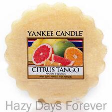 YANKEE CANDLE WAX TART MELT Citrus Tango RETIRED tartlet orange lemon grapefruit