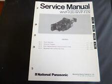 Original Service Manual Panasonic  WVP-F2E/WVP-2FN