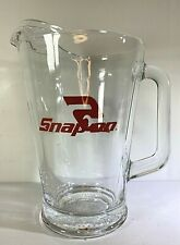 "Snap-on Tools glass beer pitcher Heavy Duty 8"" Tall"