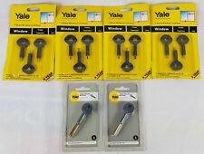 4 x Packs Yale Spare Window Lock Keys, 2 x Packs Door Security Bolt Keys Job Lot