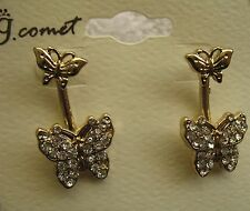 Butterfly Earrings New Gold Dangle Drop Style Costume Jewelry Value Priced