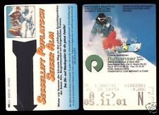 Due funivia biglietti, funivie impianti a fune, seis, Seiser Alm, Alto Adige, 2001