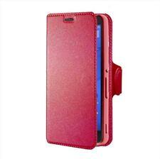 Custodia Flip portadocumenti con stand per Sony Xperia M4 Aqua e Dual, Rosa