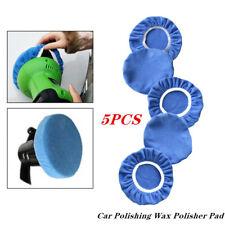 "For 7-8"" Car Polisher Body Kits 5PCS Blue Car Polishing Wax Polisher Pad Cover"