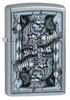 Zippo Accendino 29877 re teschio Antivento Ricaricabile Lighter Briquet Feuer...