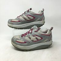 Skechers Shape Ups Toning Sneaker Shoes Lace Up Leather 11814 Pink Womens 8