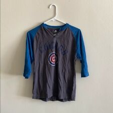 Boys Adidas Chicago Cubs 3/4 T-Shirt