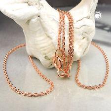 Ankerkette 585 echt Gold Rotgold 45 cm 1 mm Halskette Diamantschliff 14 Karat