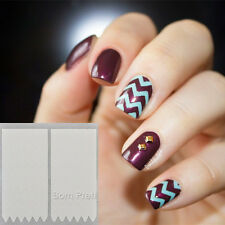 16 Sheets Nail French Tip Guides Transfer Stickers Set Strip Nail Art Decoration