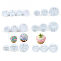 DIY 1set Cake Decorating Mould Tools Fondant Icing Plunger Cookie Cutters Mold