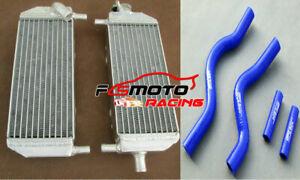 Aluminum Radiator+BLUE Hose For SUZUKI RM250 RM 250 2001-2008 02 03 04 05 06 07