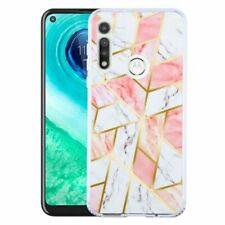 For Motorola Moto G Fast Pink Marbling Fusion Protector Hard Hybrid Case Cover