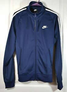 NWT MENS NIKE BLUE FULL ZIP LOOSE FIT COAT JACKET ACTIVEWEAR TOP SZ S, M, XXL
