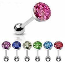 Rhinestone Tongue Ring Body Piercing Jewellery