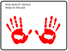 Hand Wave decals compatible with Jeep Wrangler or trucks (x2) Decals Red