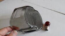 Smoke Lay Down Tail light lens & Red Bulb Harley-Davidson 73 to 98 bottom window