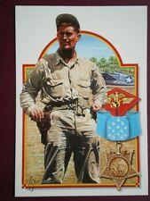 POSTCARD WWII CAPTAIN JOE FOSS USMC CONGRESSIONAL MEDAL OF HONOUR ABOVE & BEYOND
