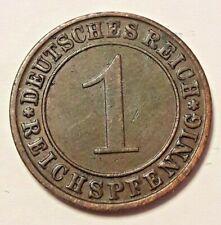 1 Reichspfennig Deutsche 1925 - 1936 Letter A-F-J-G Germany KM# 37, AKS# 57