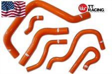 Honda Civic B16A B B18C Type R DC2 EK4 EK9  Silicone Radiator Hose Kit Orange