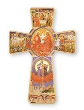 THE HOLY SPIRIT WOODEN CROSS 14cms. STATUES CANDLES PICTURES CRUCIFIXES LISTED