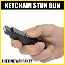 BLACK MINI SWAT Self Defense Stun KEYCHAIN Recharge LED Flashlight Women Gun