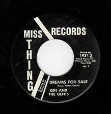 NORTHERN SOUL-GIN AND THE GENTS-DREAMS FOR SALE/TEENAGE NATIONAL ANTHEM BOY & GI
