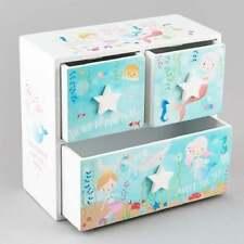 Floss & Rock 3 Drawer Mermaid Trinket Keepsake Jewellery Box Girls Gift